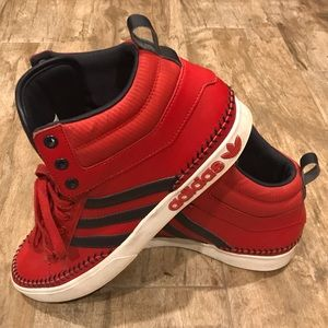 Adidas High Top Sneakers for Men | Red